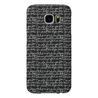cas de téléphone de manuscrit de tango d'EL, gris