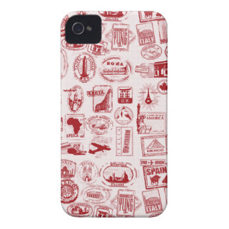 Cas de téléphone de motif de timbres de voyage coque iPhone 4