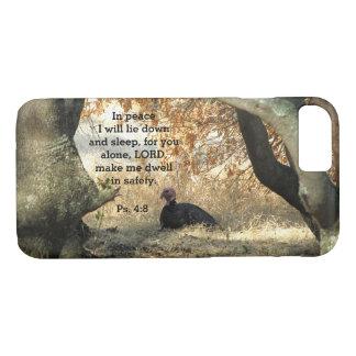 Cas de téléphone de psaume de paradis de la coque iPhone 7