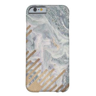 Cas de téléphone d'égouttements de marbre et d'or coque barely there iPhone 6