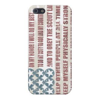 Cas de téléphone portable de serment de scout coque iPhone 5