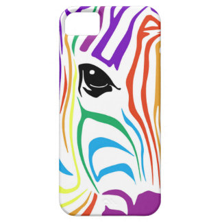 Cas de zèbre d'arc-en-ciel pour l'iPhone 5/5S Coque Barely There iPhone 5