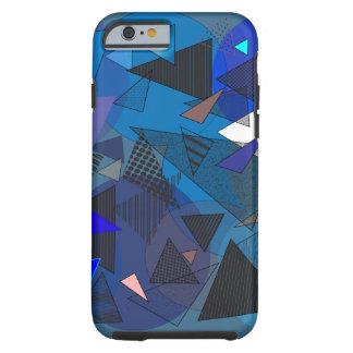 """Cas """"denim de téléphone de triangles """" coque tough iPhone 6"""