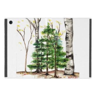 cas d'ipad d'arbres d'aquarelle mini étui iPad mini
