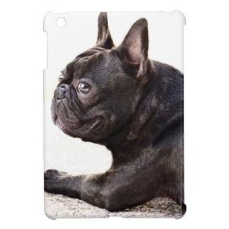 Cas d'ipad de chien de bouledogue français mini
