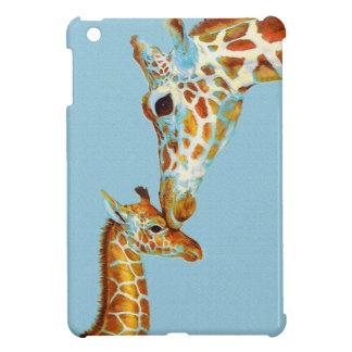 cas d'ipad de girafe de mère et de bébé mini étui iPad mini