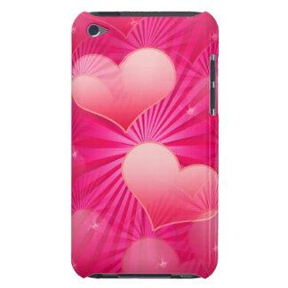 Cas d'iTouch d'étoile de coeur Étuis Barely There iPod