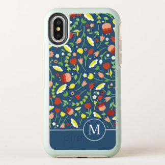 Cas Ditzy floral lunatique de l'iPhone X du