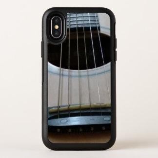 Cas d'otterbox d'IphoneX avec de guitare d'image