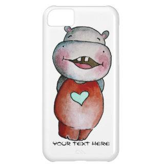 Cas drôle de l'iPhone 5c d'hippopotame Coque iPhone 5C
