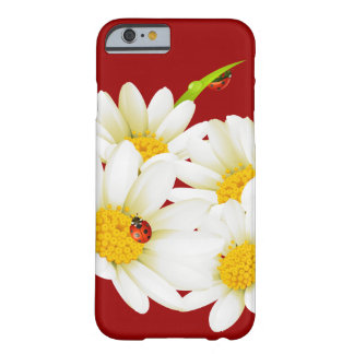 Cas du bel iPhone 6 de marguerites et de coccinell Coque Barely There iPhone 6