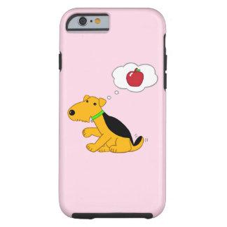 Cas du chien W Apple iPhone/6/6s d'Airedale Coque Tough iPhone 6