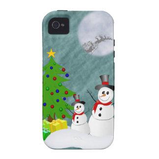 Cas dur de l iPhone 4 de bonhommes de neige Coques iPhone 4