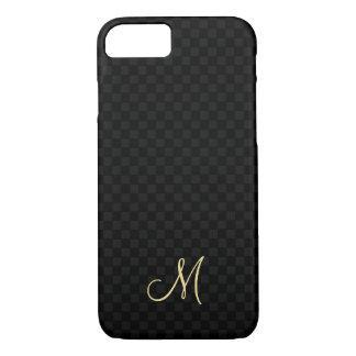 Cas dur de monogramme de motif d'ajustement mince coque iPhone 7
