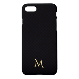 Cas dur de motif d'iPhone Checkered moderne de Coque iPhone 7