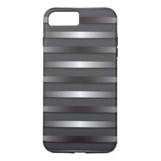 Cas en acier de téléphone de rayures coque iPhone 7 plus