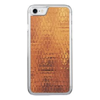 Cas en bois d'Apple d'érable mince d'or de Coque En Bois iPhone 7