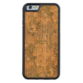 Cas en bois de l'iPhone 6 de pivoines Coque iPhone 6 Bumper En Cerisier