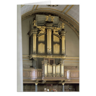 Cas en bois d'organe, c.1685-6 carte de vœux