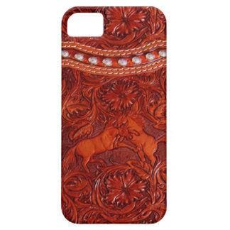 cas en cuir occidental de l'iphone 5 de mustang coque Case-Mate iPhone 5