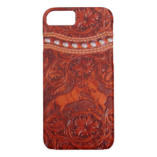 cas en cuir occidental de l'iPhone 7 de mustang Coque iPhone 7