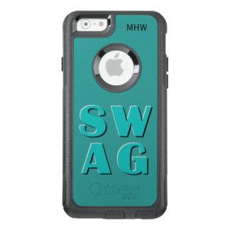 Cas faits sur commande de monogramme et de couleur coque OtterBox iPhone 6/6s