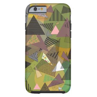 """Cas """"feuillage de téléphone de triangles """" coque iPhone 6 tough"""