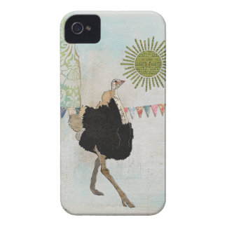 Cas fleuri de soleil d'autruche coques Case-Mate iPhone 4