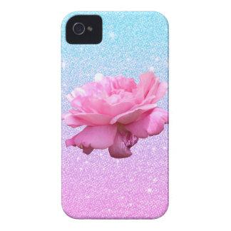 Cas floral de l'iPhone 4 de rose élégant de Coques iPhone 4 Case-Mate