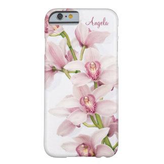 Cas floral de l'iPhone 6 d'orchidée rose de Cymbid Coque Barely There iPhone 6