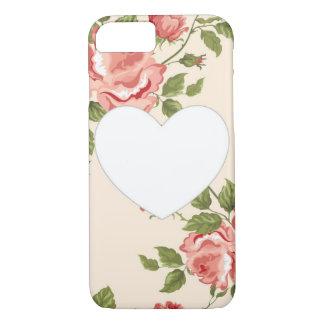 Cas floral de l'iPhone 7 de coeur Coque iPhone 7