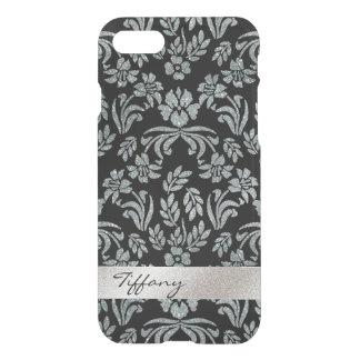 Cas floral de l'iPhone 7 d'espace libre d'argent Coque iPhone 8/7