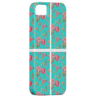CAS FLORAL DE MOTIF BLEU iPhone 5 CASE