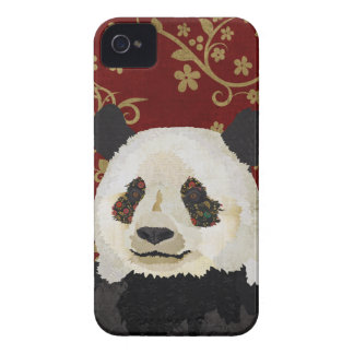 Cas floral de panda coques iPhone 4