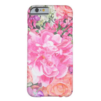 Cas floral de technologie d'aquarelle coque barely there iPhone 6