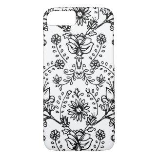 cas floral de téléphone de griffonnage coque iPhone 7