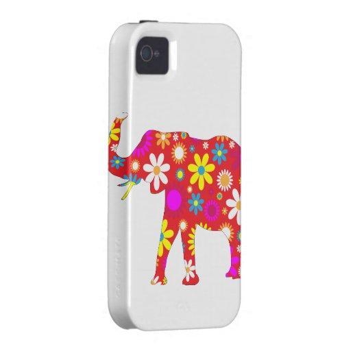 Cas floral génial de l'iphone 4 d'éléphant rétro d coques iPhone 4/4S