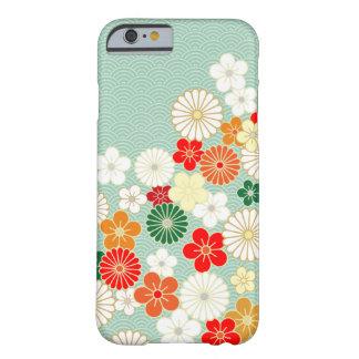 Cas floral japonais élégant de l'iPhone 6 de motif Coque iPhone 6 Barely There