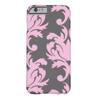 Cas floral rose de l'iPhone 6 de damassé