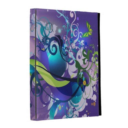 Cas folio d'iPad de l'art abstrait 35 Coques iPad Folio