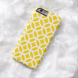 Cas géométrique de l'iPhone 6 de jaune de freesia Coque Barely There iPhone 6