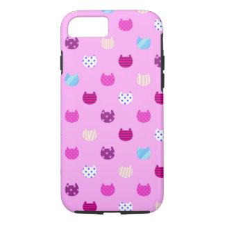 Cas Girly mignon d'Iphone 6 de chat de Kitty à Coque iPhone 7