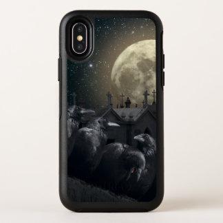 Cas gothique de l'iPhone X d'OtterBox de