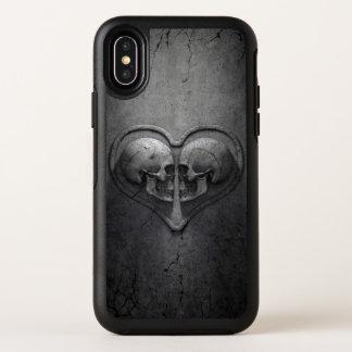 Cas gothique de l'iPhone X d'OtterBox de coeur de