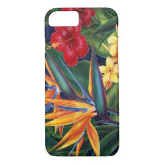 Cas hawaïen de l'iPhone 7 de paradis tropical Coque iPhone 7