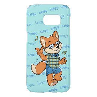 Cas heureux de téléphone de la galaxie S7 de Fox Coque Samsung Galaxy S7