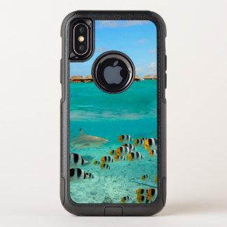 Cas imperméable sous-marin de l'iPhone X de requin