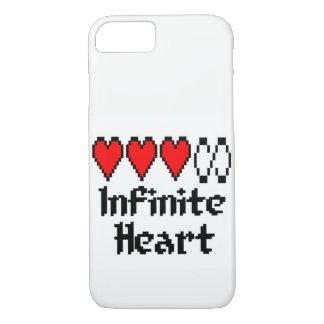 Cas infini de téléphone de coeur coque iPhone 7