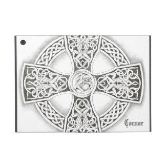 Cas irlandais d'Ipad de croix celtique de B&W mini