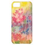 Cas lumineux de l'iPhone 5 de fleur de jacinthe Coque iPhone 5C